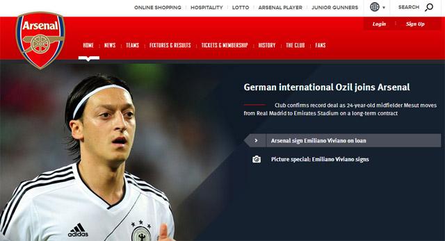 OFICIAL: Ozil es nuevo jugador del Arsenal