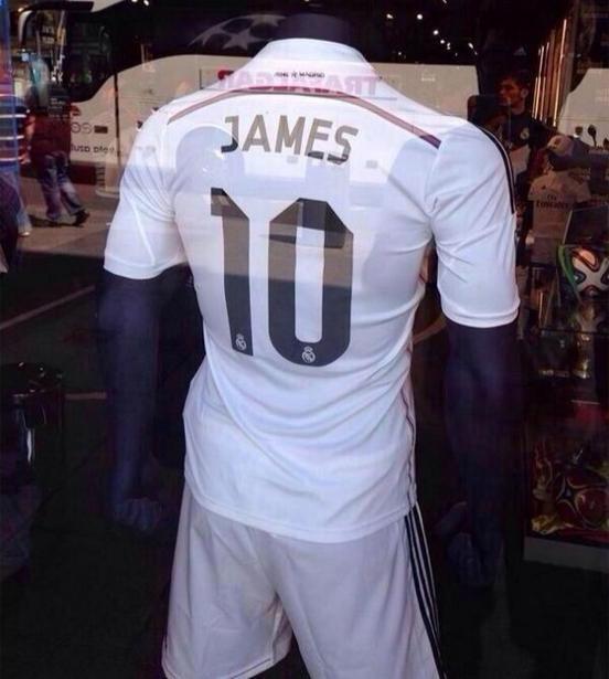 c0b7dfe79db13  FOTO  En España ya venden la camiseta del Real Madrid con la  10  de James  Rodríguez