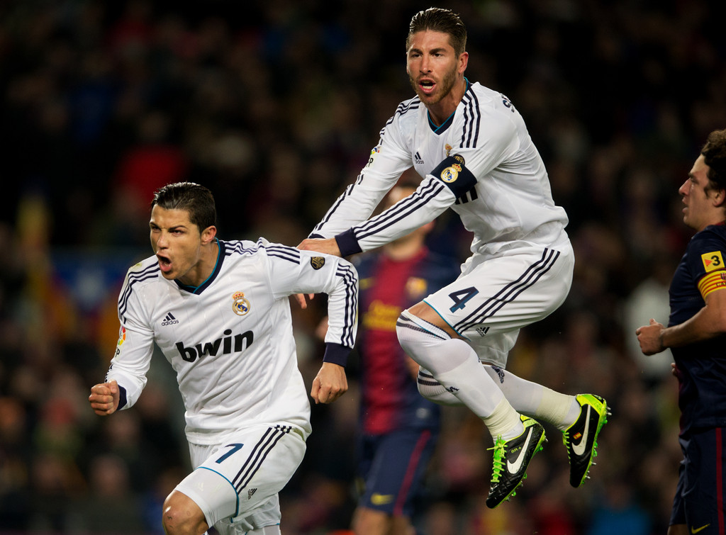 Sergio Ramos and Ronaldo