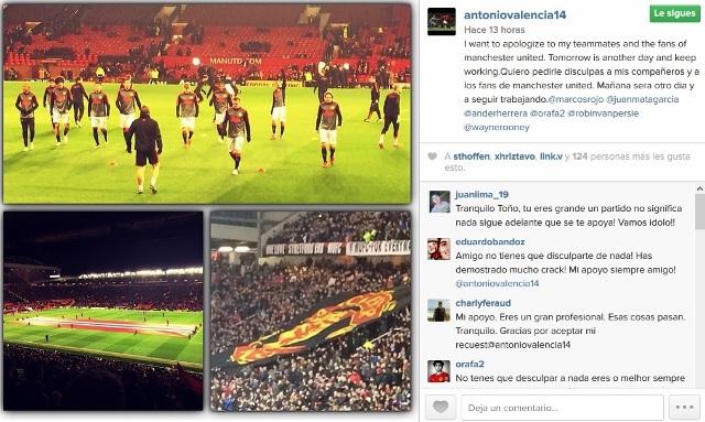 Antonio Valencia disculpas Instagram