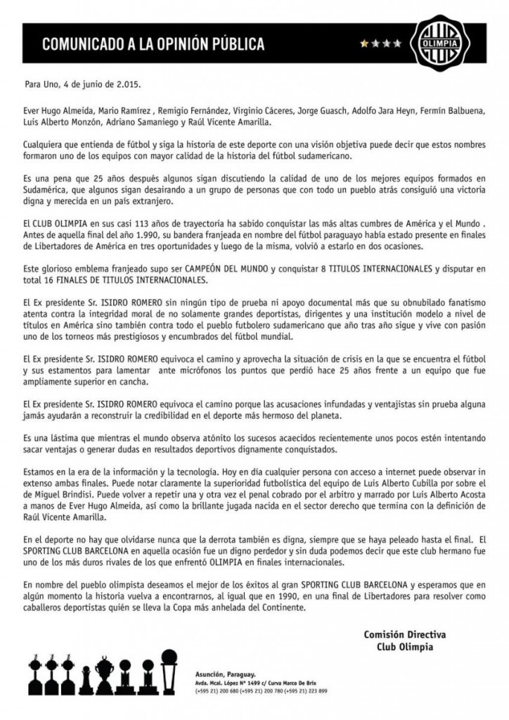 comunicado_olimpia_barcelona